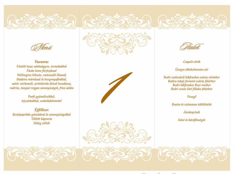 cd009e688c CEM1428 krém esküvői menükártya - Esküvői meghívó